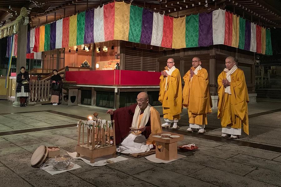 仏教を護る十二の仏、荒々しい神・鬼神を供養するための神供