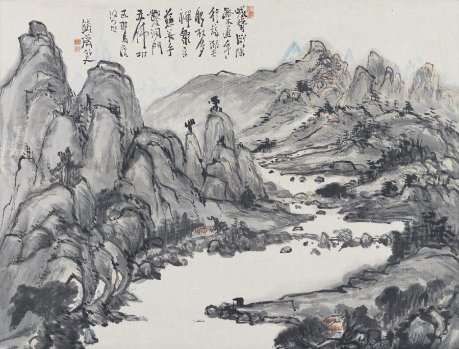 《耶馬渓図》富岡鉄斎筆 明治~大正時代